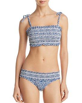 Tory Burch - Costa Printed Bandeau Bikini Top & Costa Hipster Bikini Bottom