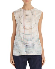 Theory - Printed Silk Top - 100% Exclusive