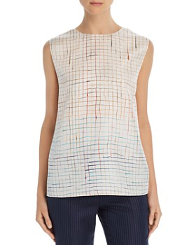 f5308fc48db Theory - Printed Silk Top - 100% Exclusive ...