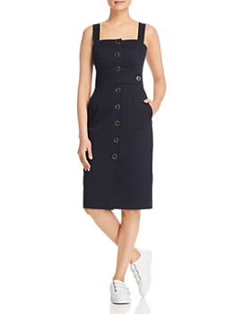 6ae9127bcf KAREN MILLEN - Button-Front Pinafore Dress - 100% Exclusive ...