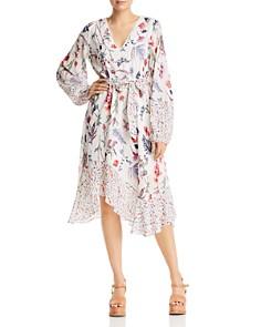 BCBGMAXAZRIA - Wildflower Asymmetric Midi Dress