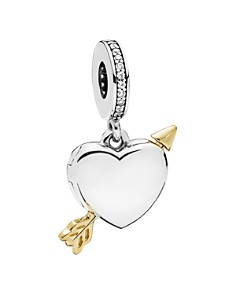 PANDORA - Sterling Silver & Cubic Zirconia Arrow of Love Charm