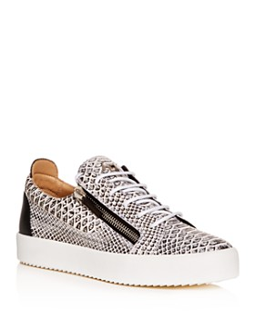 8290d34fe3c6 Giuseppe Zanotti - Men s Roccia Snake-Embossed Leather Low-Top Sneakers ...