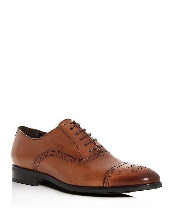 To Boot New York - Men's Mezzo Leather Cap-Toe Brogue Oxfords
