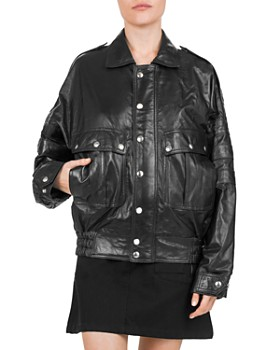 c0d578a0d8a3 The Kooples - Leather Batwing Sleeve Jacket ...