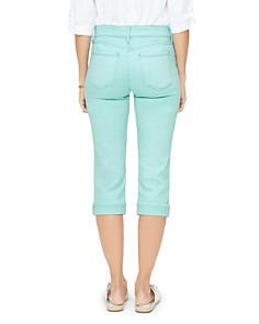 NYDJ - Marilyn Straight Crop Jeans in Blue Daisy