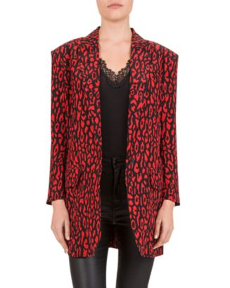 Leo Skinny Printed Blazer by The Kooples