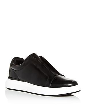 Karl Lagerfeld Sneakers MEN'S LEATHER SLIP-ON SNEAKERS