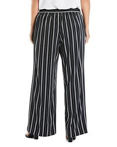 Estelle Plus - Florence Striped Wide-Leg Pants