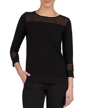 97c4ae69e Gerard Darel - Joanita Ribbed Sheer-Detail Sweater ...
