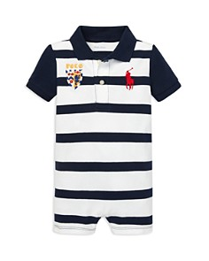 Ralph Lauren - Boys' Striped Cotton Polo Shortall - Baby