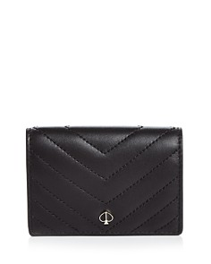 kate spade new york - Quilted Leather Flap Card Case