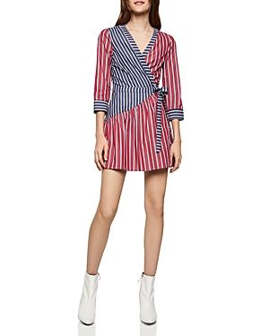Bcbgeneration Dresses BCBGENERATION MIXED-STRIPE WRAP DRESS