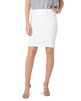Liverpool Los Angeles - Denim Pull-On Skirt in Bright White