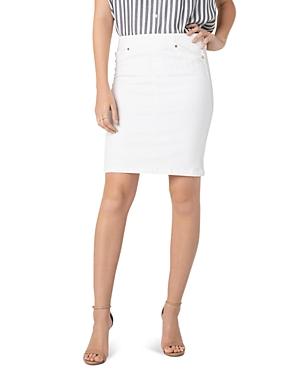 Liverpool Skirts Denim Pull-On Skirt in Bright White