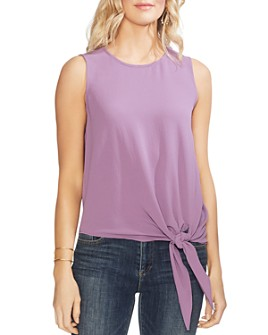VINCE CAMUTO - Sleeveless Tie-Front Top