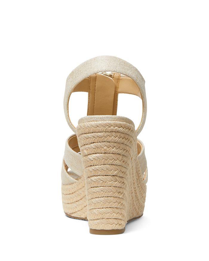 5f358a3e27dd MICHAEL Michael Kors Women s Berkley Woven Espadrille Wedge Sandals ...