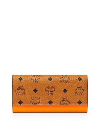 MCM - Patricia Large Monogrammed Patent Leather Wallet