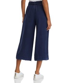 Bella Dahl - Frayed Cropped Wide-Leg Pants