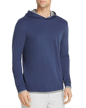 Theory - Daulton Double-Layer Hooded Long-Sleeve Tee - 100% Exclusive