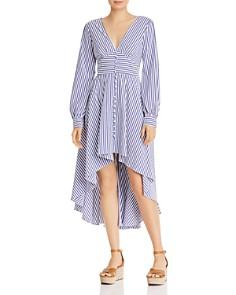 AQUA - Striped High/Low Dress - 100% Exclusive