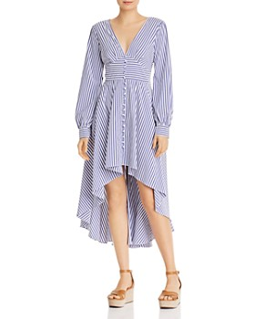 aaec12327da AQUA - Striped High Low Dress - 100% Exclusive ...