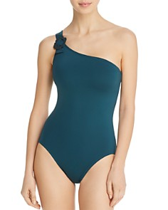 kate spade new york - Daisy Buckle One Shoulder One Piece Swimsuit