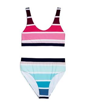 Splendid - Girls' Cascade Striped Two-Piece Swimsuit - Big Kid
