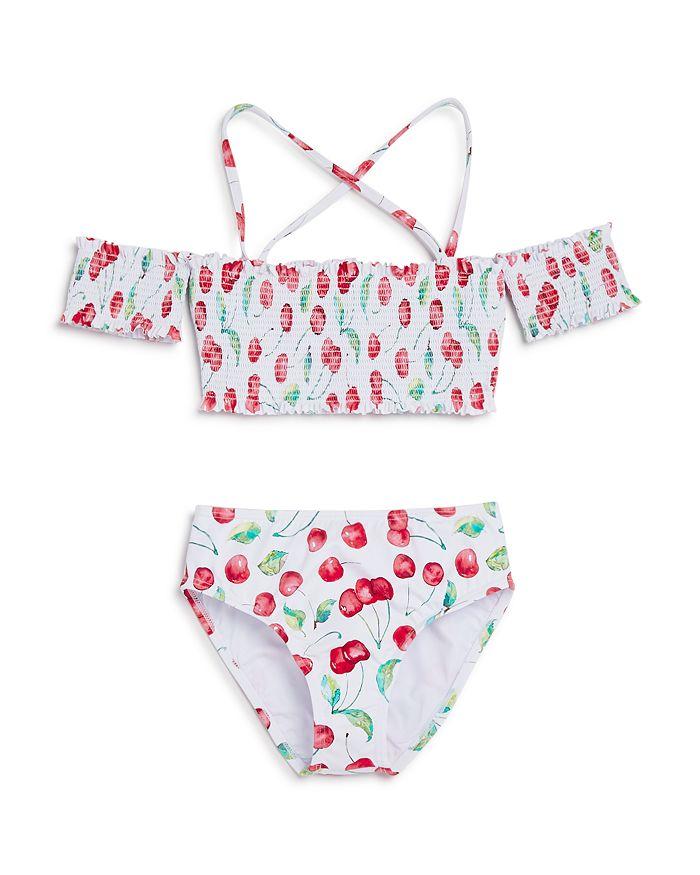 2848e72b5a PilyQ - Cherries High Waist Two-Piece Swimsuit - Little Kid, Big Kid