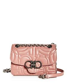 Salvatore Ferragamo - Medium Quilted Leather Convertible Shoulder Bag