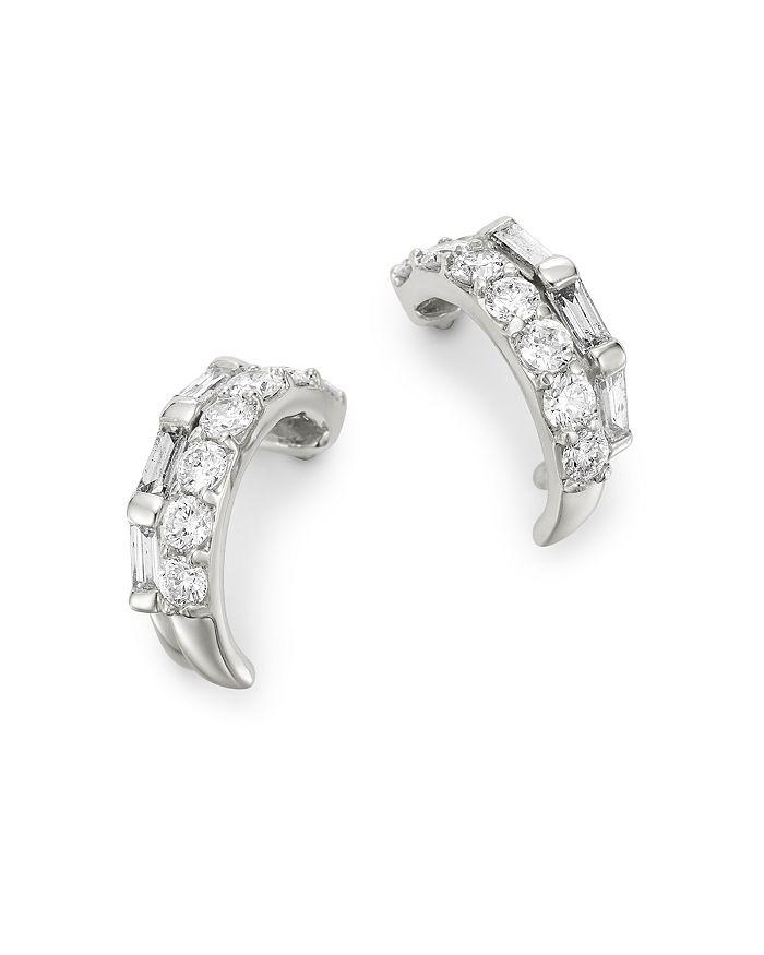 a9f0cff1dd753e Bloomingdale's - Diamond Huggie Hoop Earrings in 14K White Gold, 0.50 ct.  t.w. -