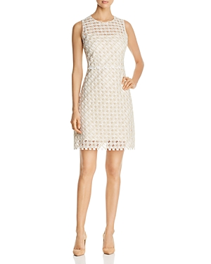 Elie Tahari Rosaleen Embroidered Sheath Dress