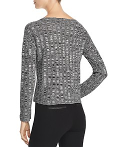 Eileen Fisher Petites - Cropped Melange-Knit Sweater