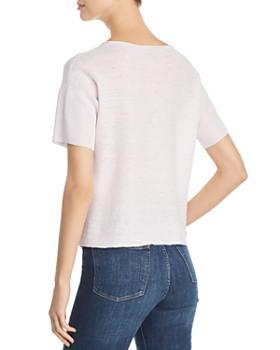 05048c5b543 ... Eileen Fisher - Short-Sleeve Organic Linen Sweater