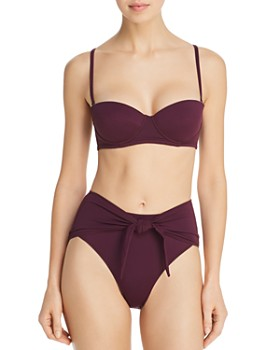 4f99ffde60622 PRISM - Positano Molded Cup Bandeau Bikini Top   Mareilles High-Waist Knot  Bikini Bottom