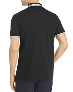 Ted Baker - Tramway Regular Fit Polo Shirt with Stripe Knit Collar - 100% Exclusive