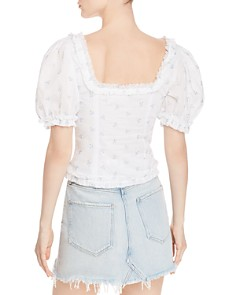 For Love & Lemons -  Delilah Floral-Embroidered Top