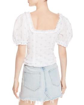 addc94d190 ... For Love & Lemons - Delilah Floral-Embroidered Top
