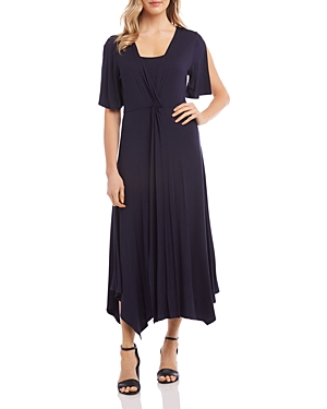 Karen Kane Dresses TWIST-FRONT MAXI DRESS