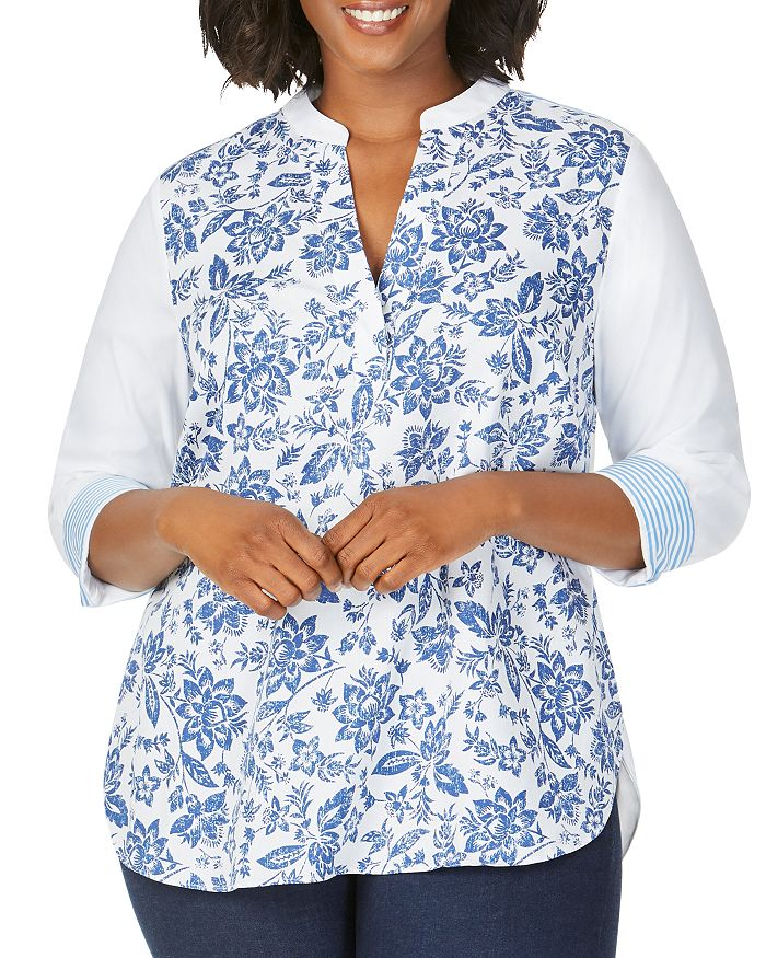 Foxcroft Plus - Colette Mixed-Print High/Low Top