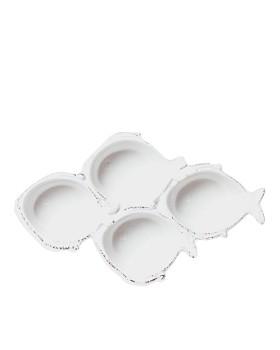 VIETRI - Melamine Lastra Fish Four-Part Server