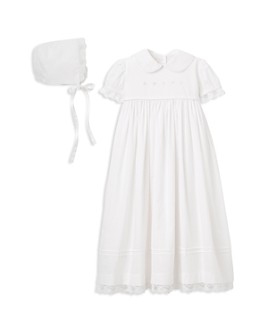 Elegant Baby - Girls' Christening Gown & Bonnet Set - Baby