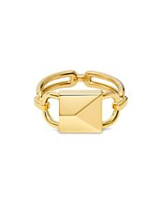 Michael Kors - Mercer Padlock Ring in 14K Gold-Plated Sterling Silver