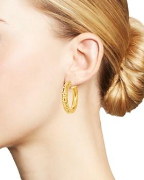 Bloomingdale's - Crystal-Cut Hoop Earrings in 14K Yellow Gold - 100% Exclusive