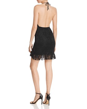 Nightcap - Nightcap Jungle Lace Halter Mini Dress