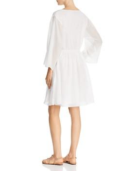 ATM Anthony Thomas Melillo - Crinkle Cotton V-Neck Dress