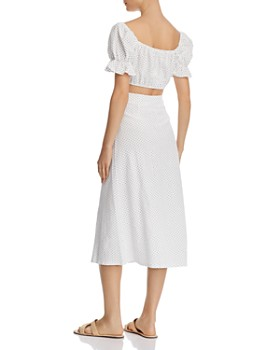 leRumi - Chloe Polka Dot Cropped Top & Midi Skirt Set