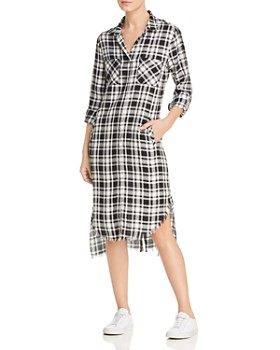 aa2f024a7d3 Billy T - Plaid High Low Shirt Dress ...