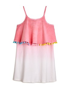 Mini Series - Girls' Dip-Dyed Pom-Pom Dress, Little Kid - 100% Exclusive