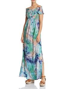 AQUA - Smocked Tie-Dye Maxi Dress - 100% Exclusive